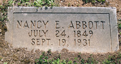Nancy Elizabeth Reagan Abbott Headstone