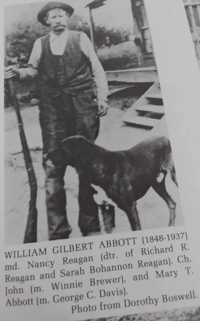 william gilbert abbott with dog