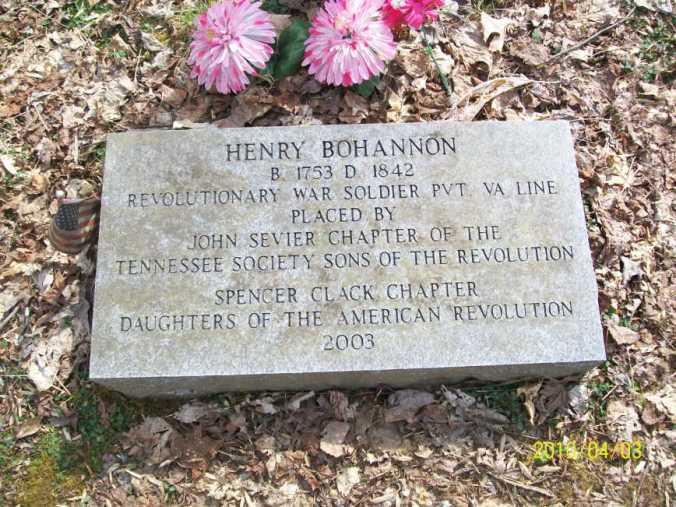 Henry Bohannon Grave marker